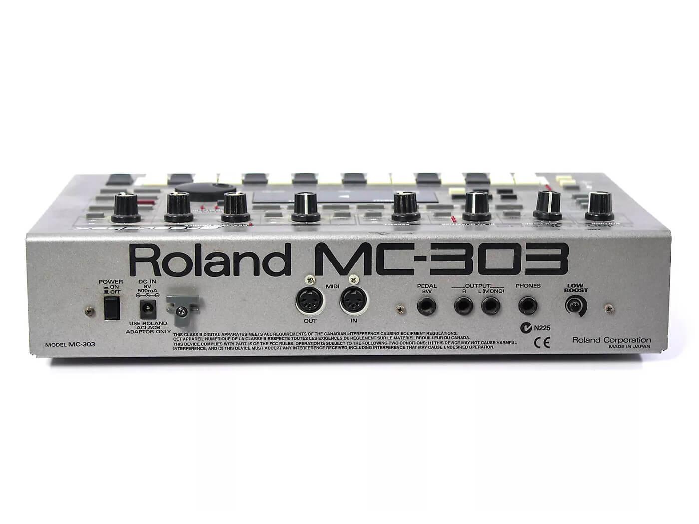 Roland MC-303 Groovebox Rear view