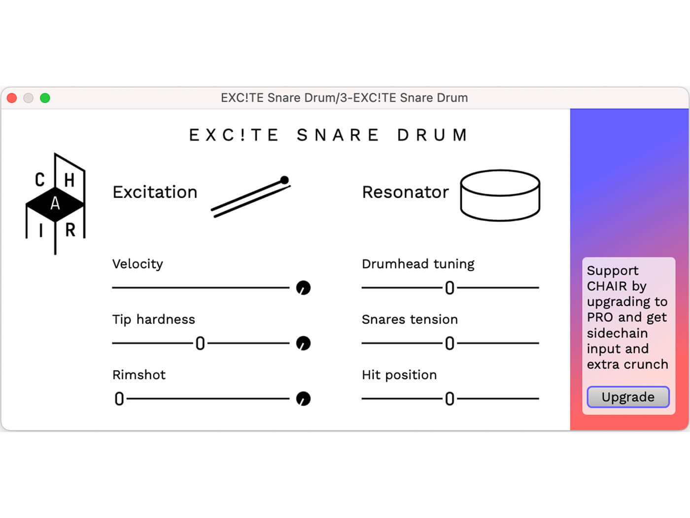 The Centre for Haptic Audio Interaction Research - EXC!TE SNARE DRUM