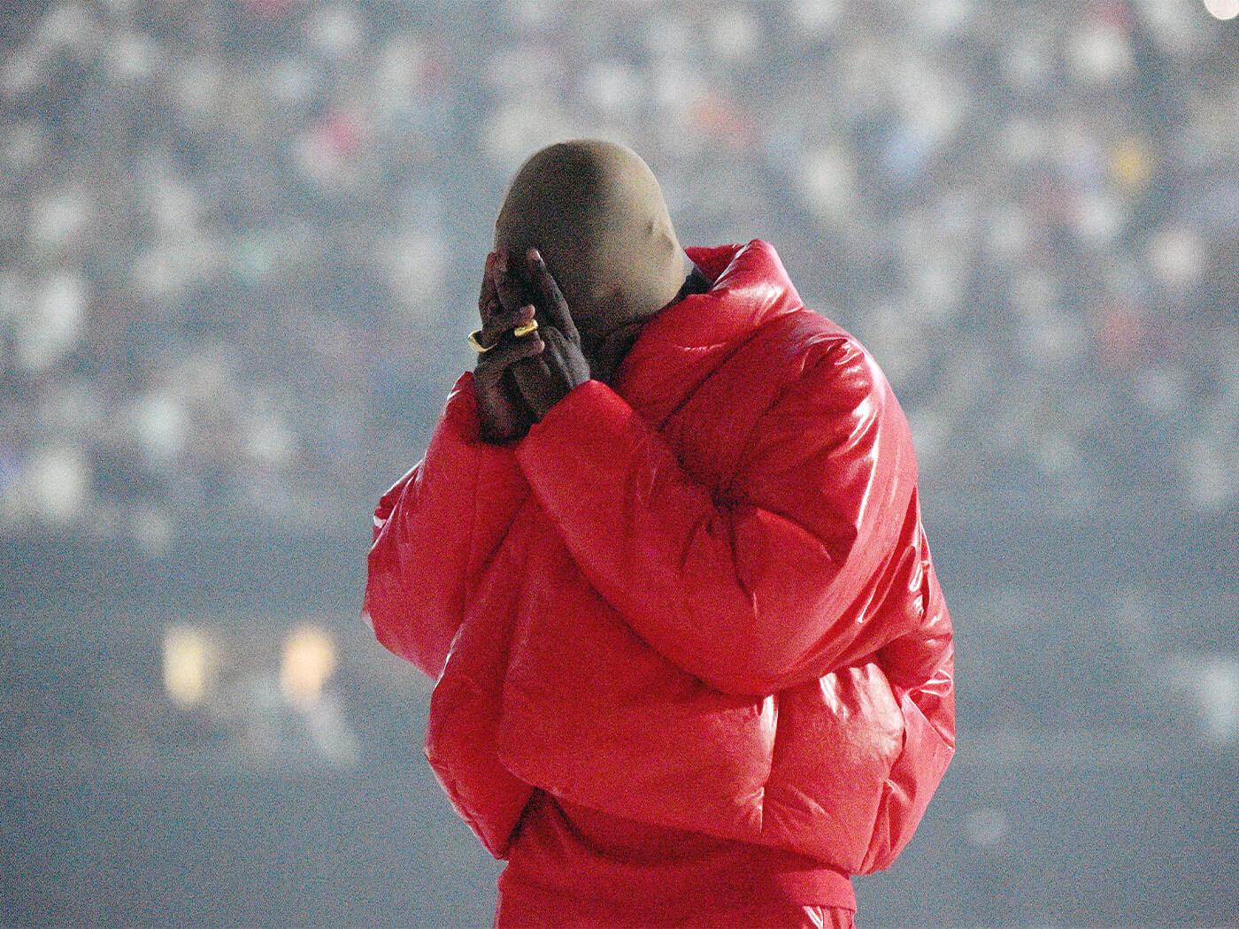 Kanye West at the Donda listenening event