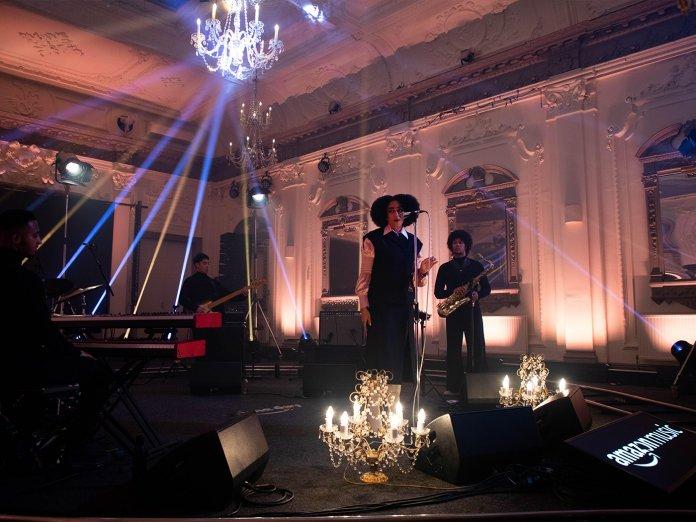 Celeste performing at Prime Day Live